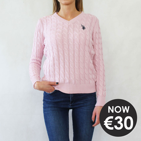 Twist Rose V-Neck Knit - NOW €30 -