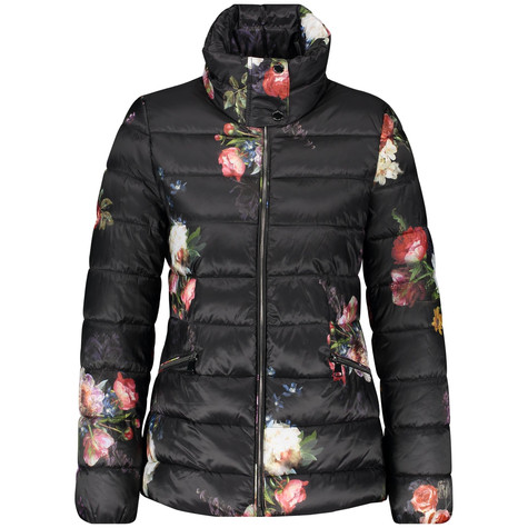 Gerry Weber Quilted Jacket with a Floral Pattern
