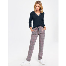 Gerry Weber Glencheck Pattern Tracksuit Style Trousers