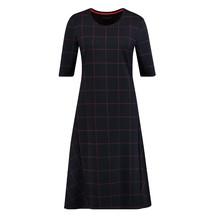 Gerry Weber Blue Lilac Pink Thin Check Pattern Dress