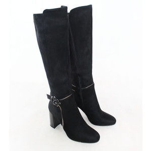 Susst  Knee Length Black Buckle Detail Boot