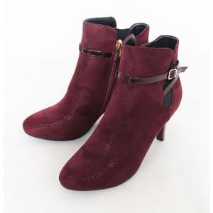 Susst Burgundy Sparkle Heel Boot