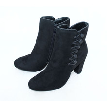 Susst Suede Side Button Ankle Boots