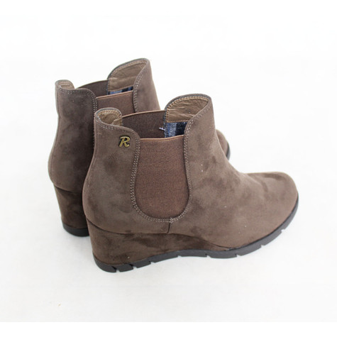 Refresh Taupe Wedge Ankle Boot