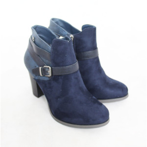 Refresh Navy Strap Ankle Boot