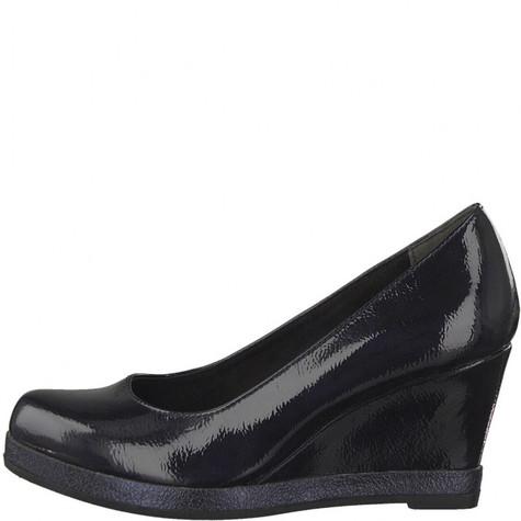 Marco Tozzi Black Patient Wedge Shoes