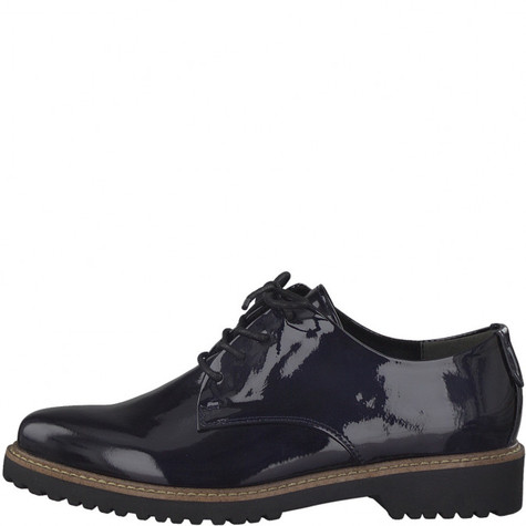 Marco Tozzi Navy Patient Flat Lace Brogues