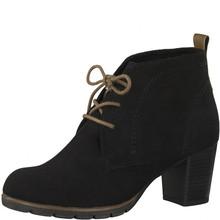 Marco Tozzi Black Lace Up Desert Heel Boots