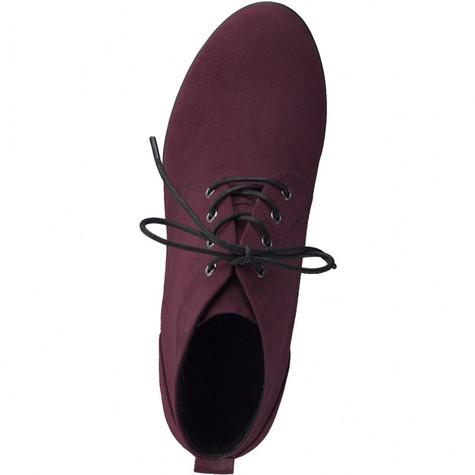 Marco Tozzi Bordeaux Lace Up Boot Wedges