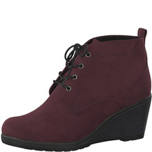 Marco Tozzi Bordeaux Lace Up Boot Wedges