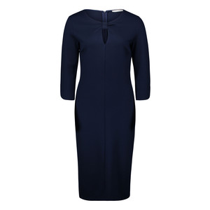 Betty Barclay Dark Navy Knot Neck Detail Dress