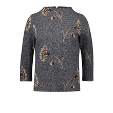 Betty Barclay Dark Blue/White Floral Sweatshirt