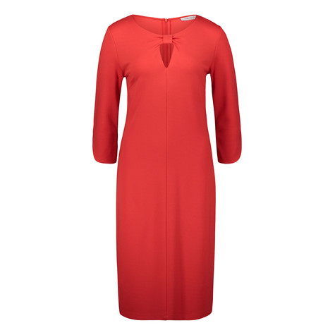 Betty Barclay RED KNOT NECK DETAIL DRESS