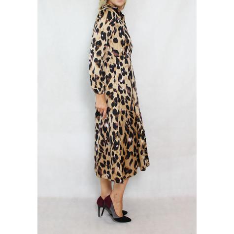 Pamela Scott Animal Pattern Print Shirt Dress