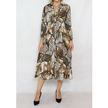 Jowell Leopard Print Pattern Shirt Dress