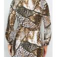Pamela Scott Leopard Print Pattern Shirt Dress