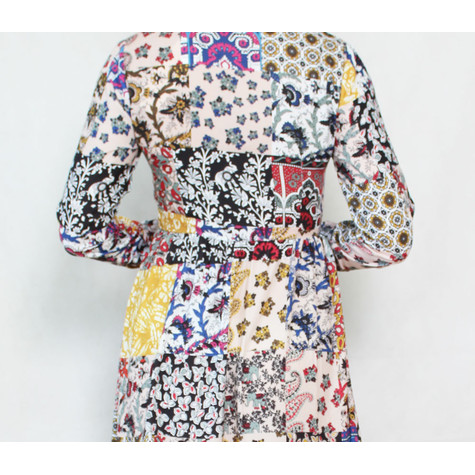 Exquiss Off White Multi Colour Print Shirt Dress