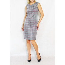 Zapara Grey Bordeaux Sleeveless Dress