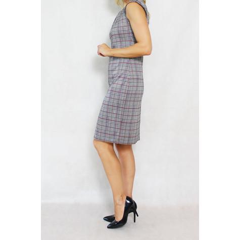 Zapara Grey Bordeaux Sleeveless Dress