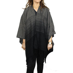 Olsen Grey & Black Shawl