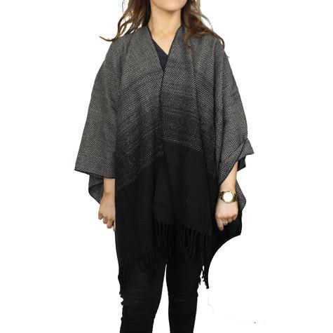 Olsen Grey & Black Shawl