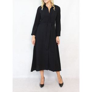 Dolssaci Black Belted Shirt Dress