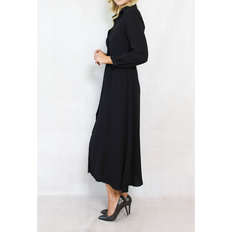 Pamela Scott Black Belted Shirt Dress