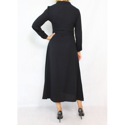 Dolssaci Black Belted Shirt Dress