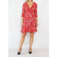 Stella Morgan Red White Floral Wrap Dress