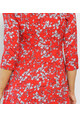 Pamela Scott Red White Floral Wrap Dress