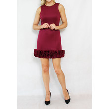 Donna Ricco Plum Sleeveless Cup Cake Dress