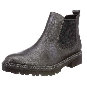 Marco Tozzi Pewter Metallic Chelsea Boot