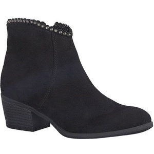 Marco Tozzi Black Fleece Zip Ankle Boot