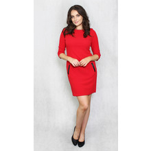 Zapara Red Round Neck Dress