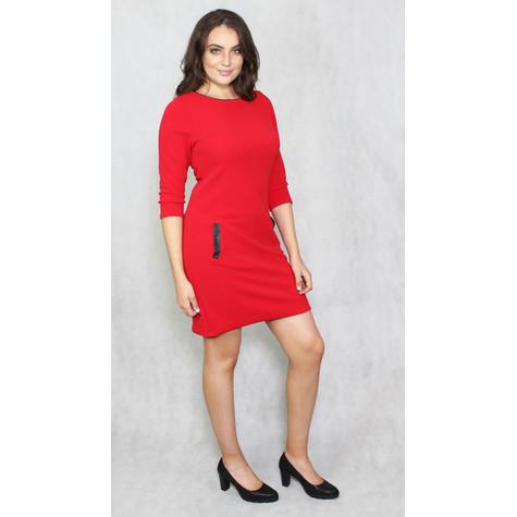 Zapara Red Round Neck Dress