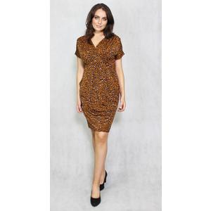 Zapara Leopard Pattern Print Wrap Dress