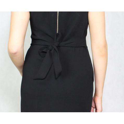 Zapara Black Round Neck Dress