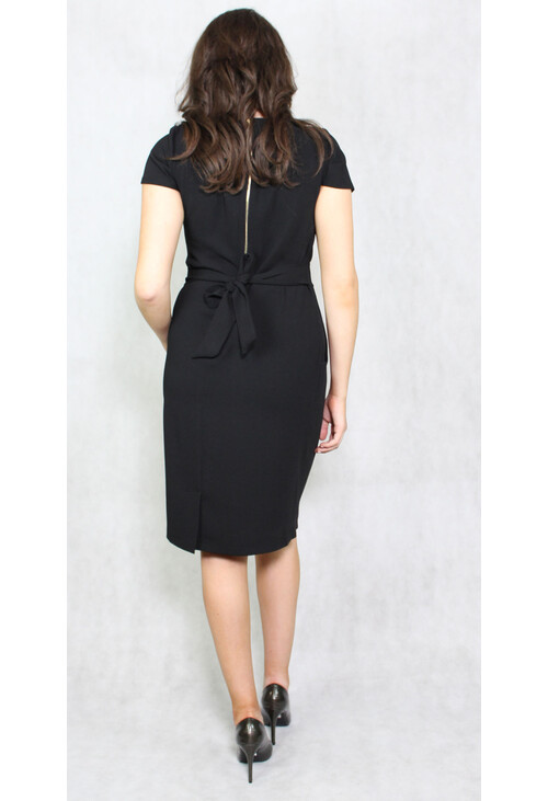 Zapara Black Round Neck Dress