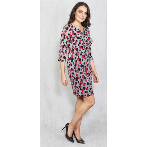 Zapara Black & Red Spot Pattern Dress