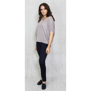 Twist Rose Grey Crop Drape Knit
