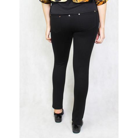 Zapara Black Back Zip Detail Trousers