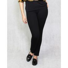 Zapara Black Back Zip Detail Trousers