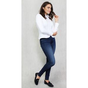 Tinta Style White Ruffle Shirt