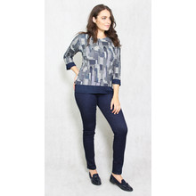 SophieB Navy NY Skyline Print Top