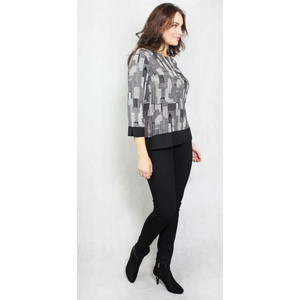 SophieB Black NY Skyline Print Top