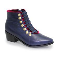 Lunar Napoleon Blue Ankle Boot