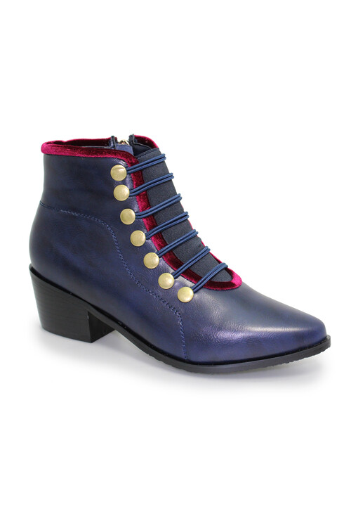 Lunar Napoleon Blue Ankle Boot