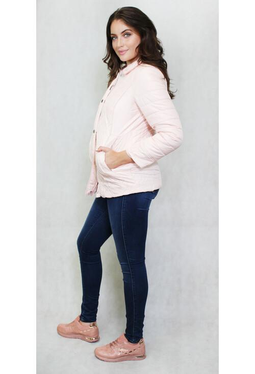 Mona Peach Light Weight Button Coat