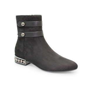 Lunar Black Detail Heel Ankle Boot