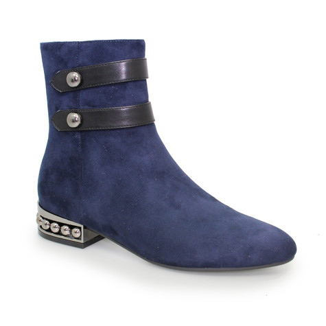 Lunar Navy Detail Heel Boot
